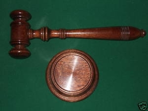 Quality dark Mahogany Gavel & Block