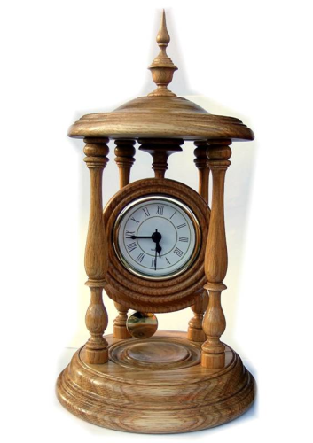 Bandstand Clock with pendulum
