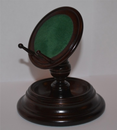 Rosewood Pocket Watch Stand / Display stem type, with baize insert, hand crafted