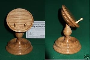 Oak Pocket Watch Stand / Display stem type