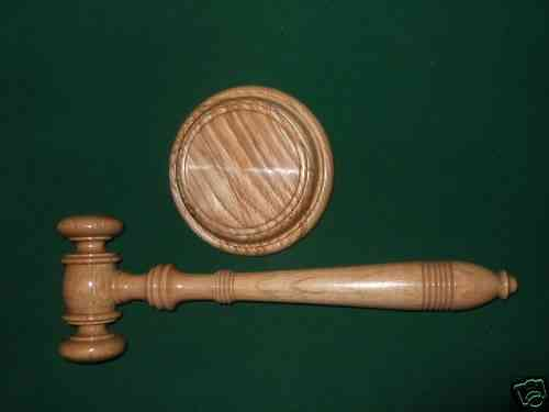 Gavel & Block hand crafted -Top Quality -English Oak