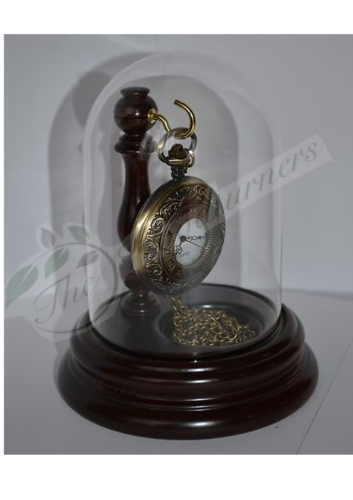 Rosewood Pocket Watch Glass Dome Stand / Display  hand crafted
